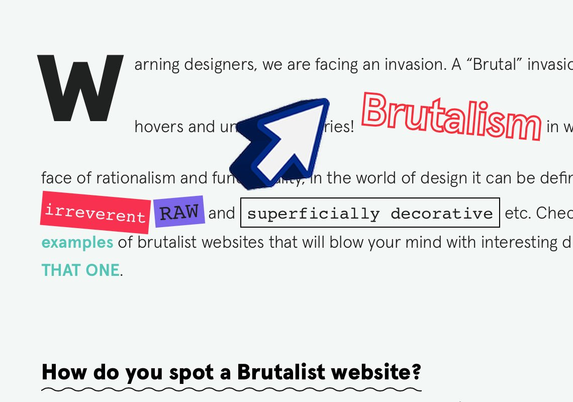 Brutalist design: Just check out this insane cursor!