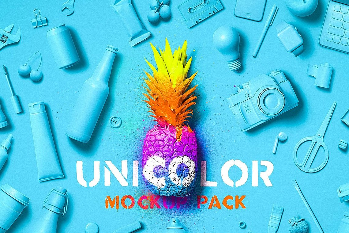 Unicolor Mockup Pack by Mockup Zone
