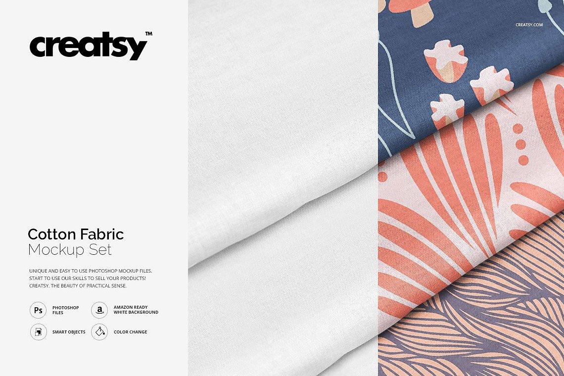 Cotton Fabric Mockup Set by Creatsy