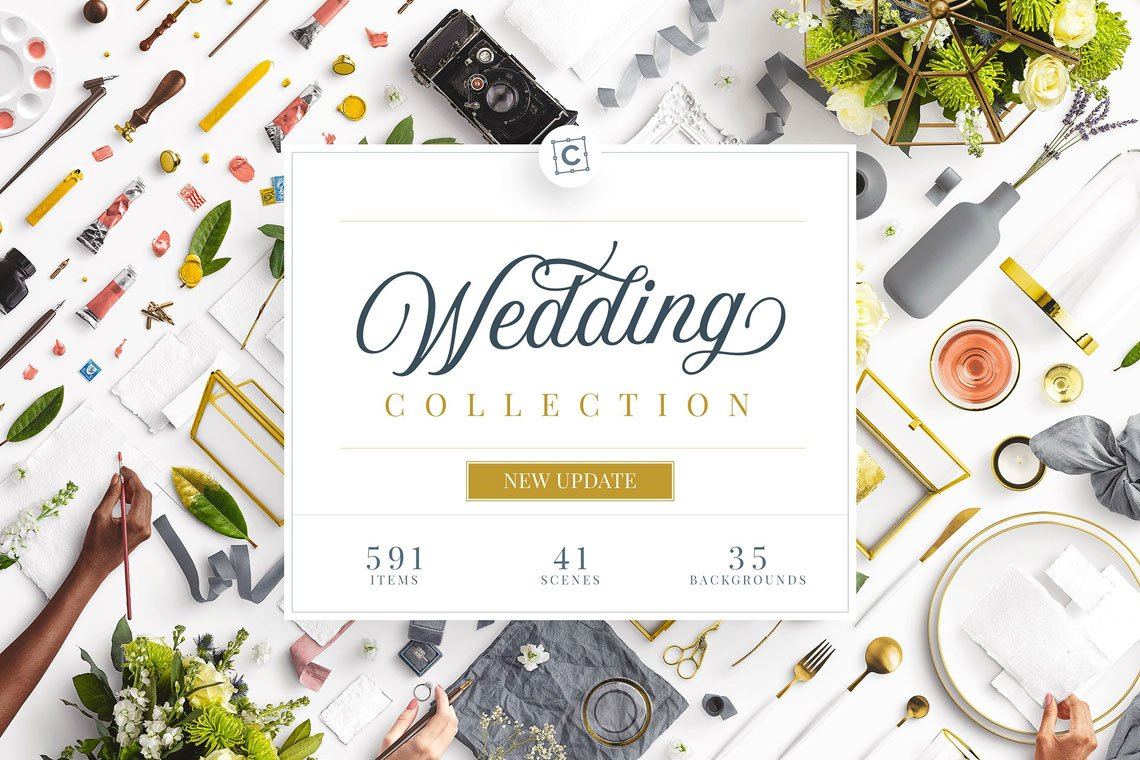 Wedding Mockup Scene Creator Bundle by Custom Scene