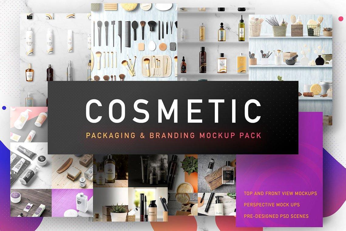 Cosmetic Packaging Branding MockUp by Mockup Zone