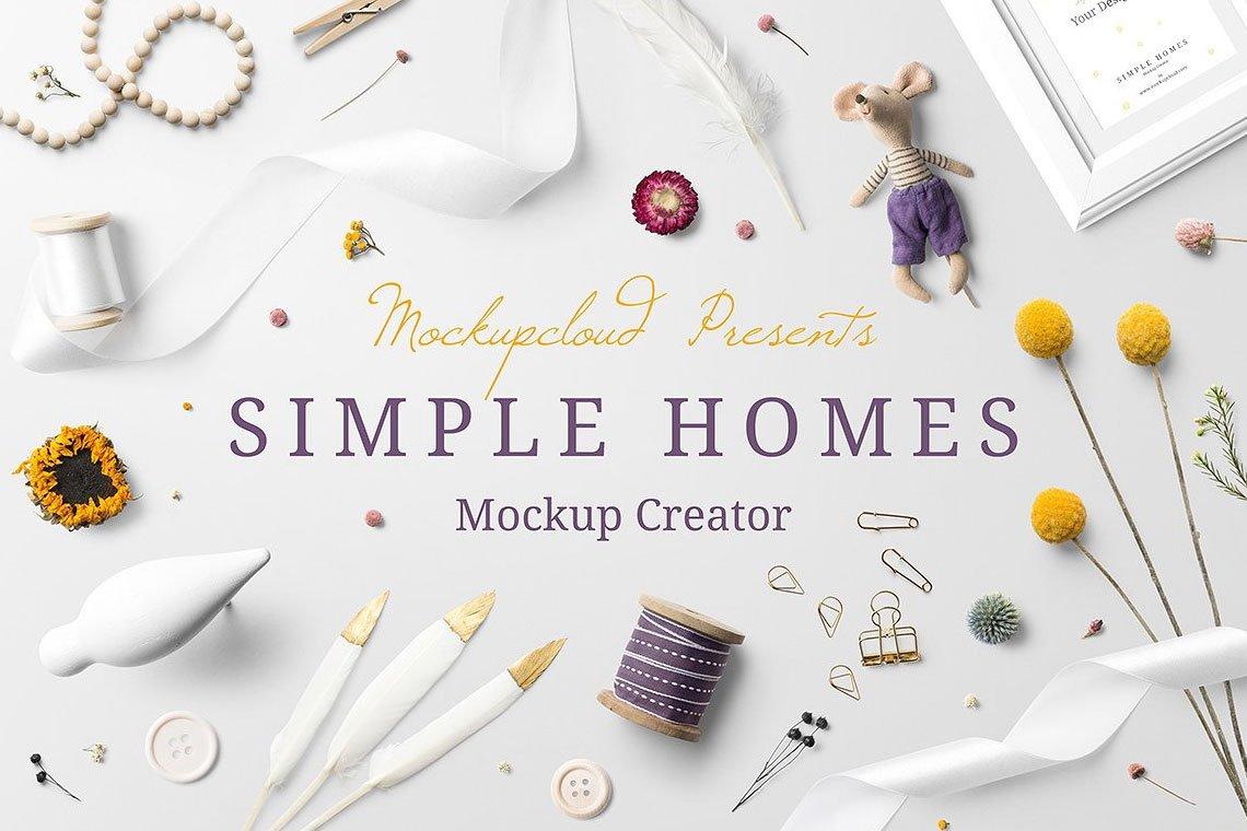 Simple Homes Mockup Creator by Mockup Cloud