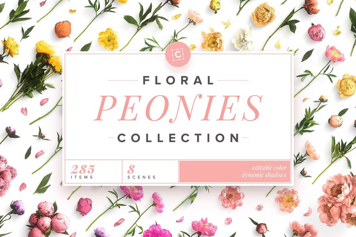 Floral Peonies Collection by Custom Scene