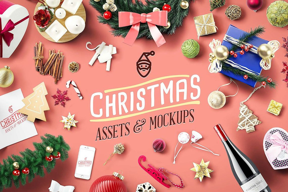 Christmas Assets & Mock Ups by Mockup Zone