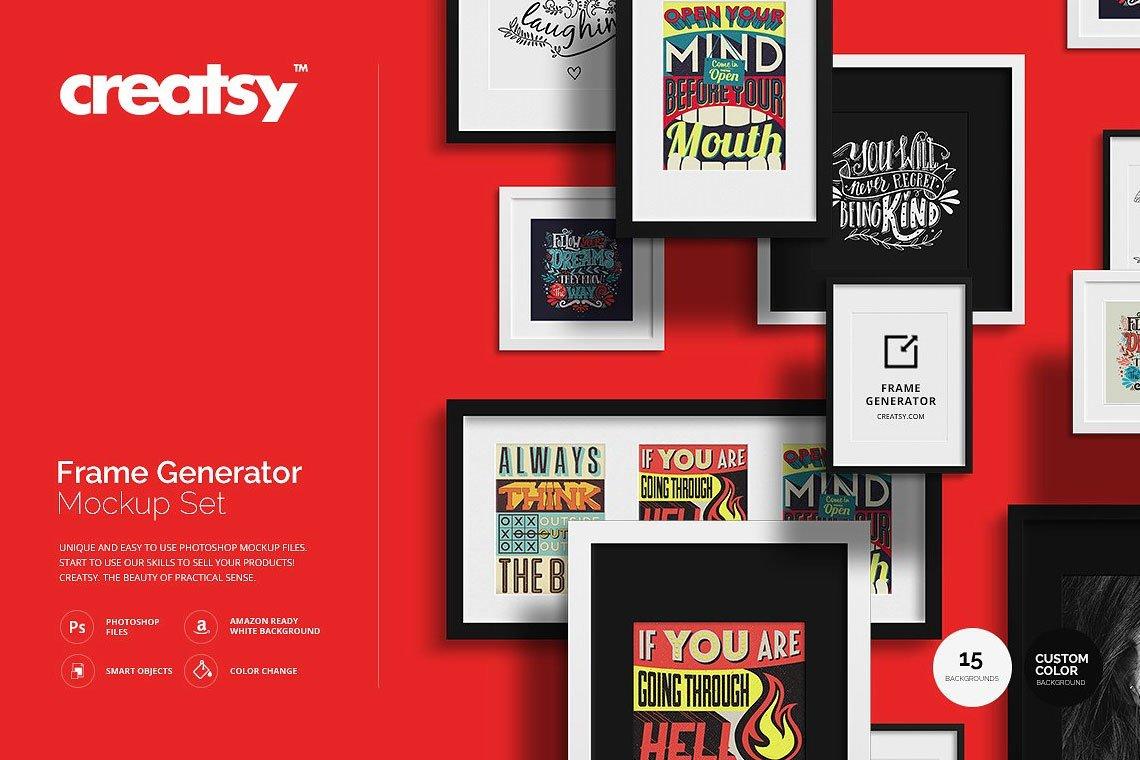 Frame Generator Mockup Set by Creatsy