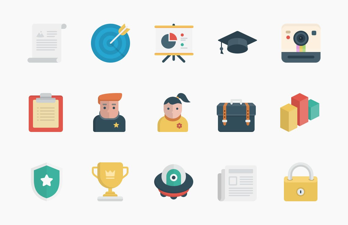 Flato Vector Icons Set