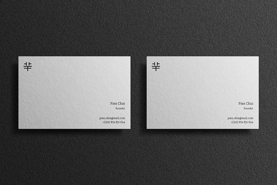 Lesly Business Card Mockup