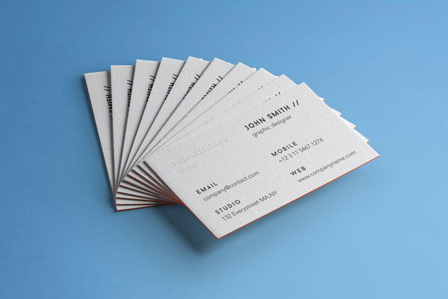 Psd Business Card Brand Mockup Vol4