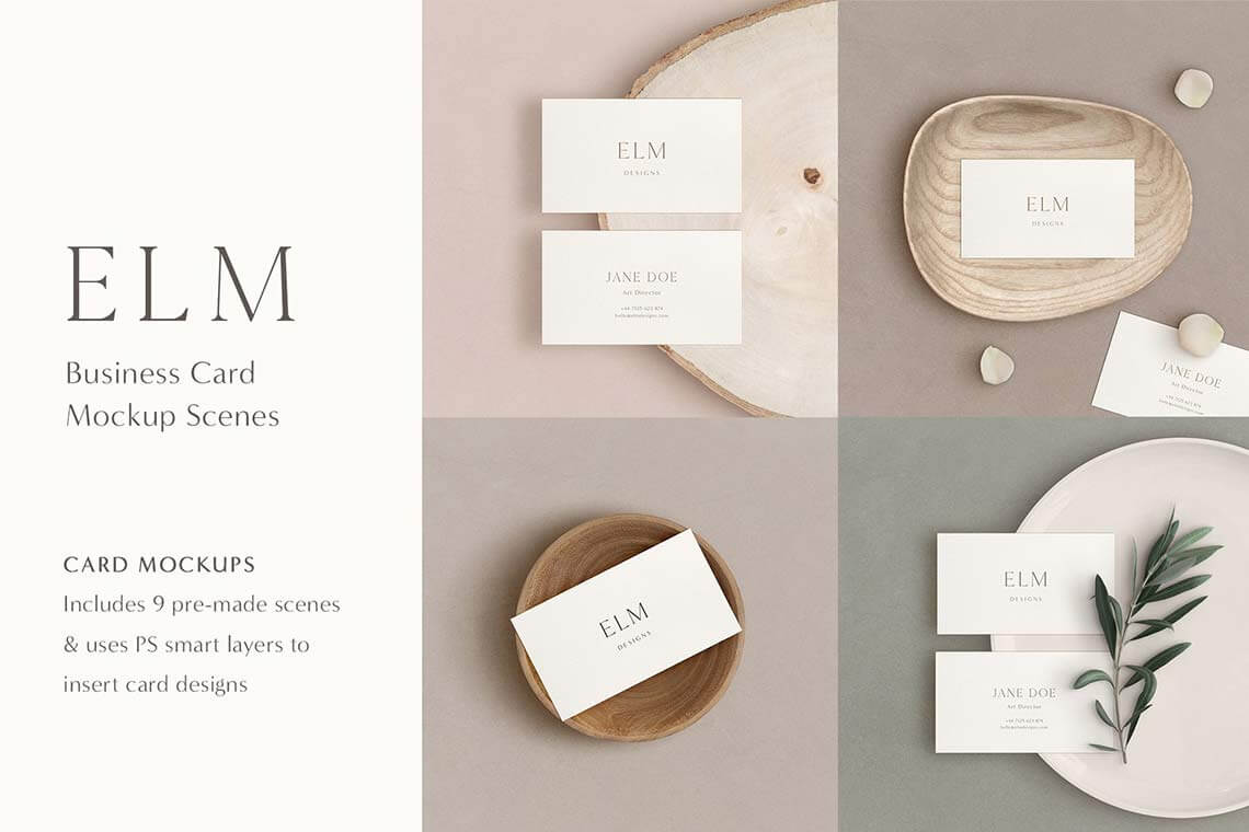 Elm Business Card Mockup Kit