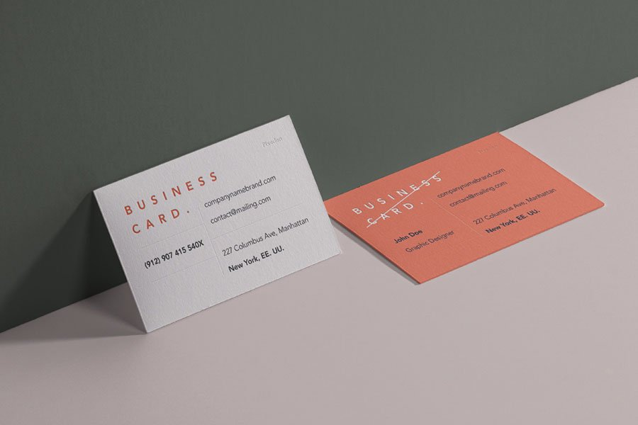 Free PSD Card Brand Mockup