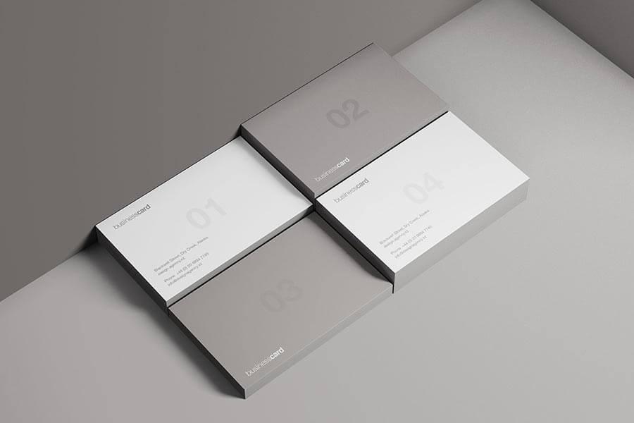 Modern Business Cards Mockup