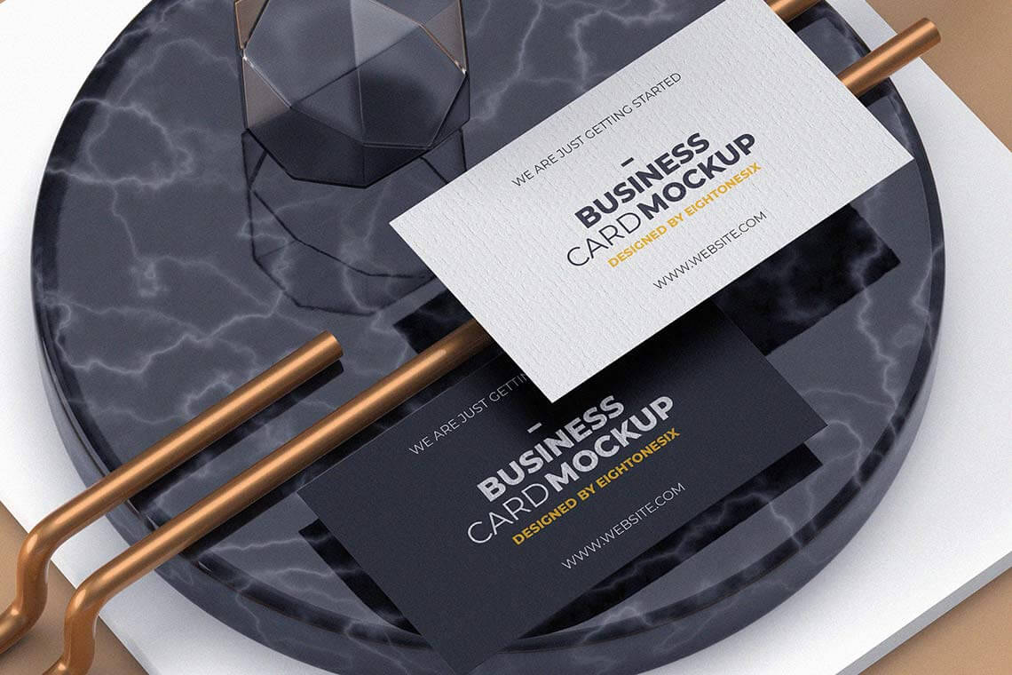 Modern Experimental Business Card Template PSD