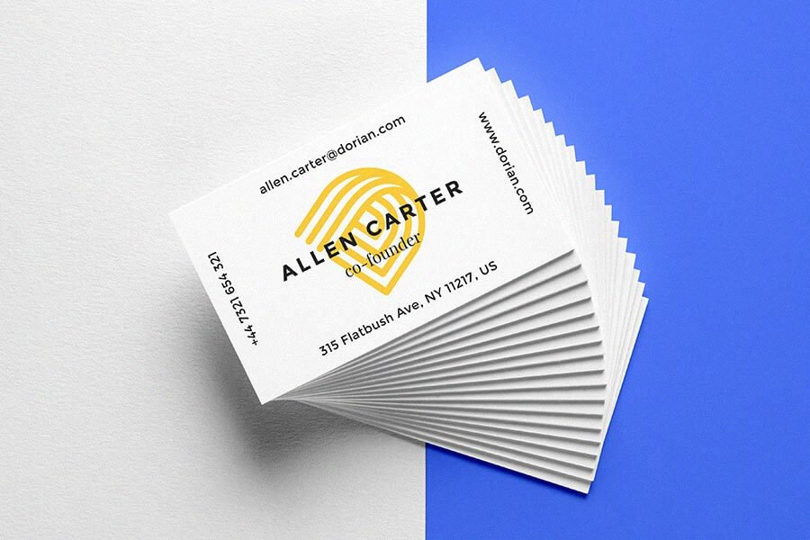 Realistic Business Card PSD