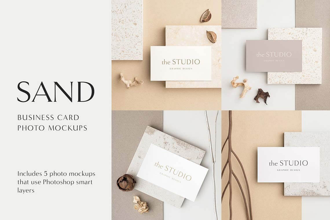 Sand Business Card Mockups