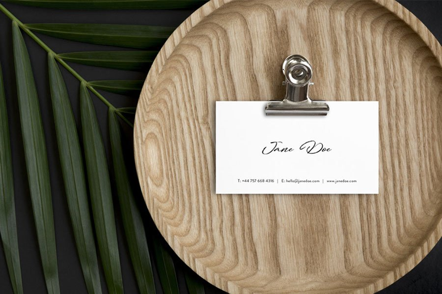 Scandi Business Card Template PSD