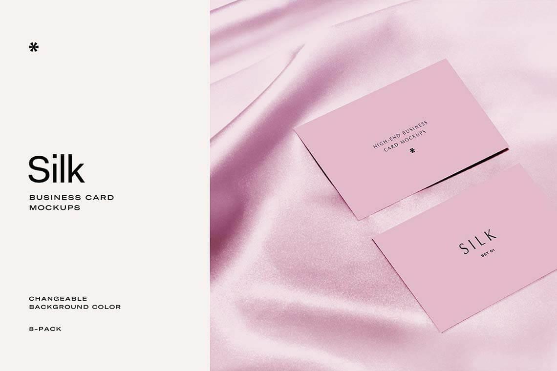 Silk Business Card Mockup
