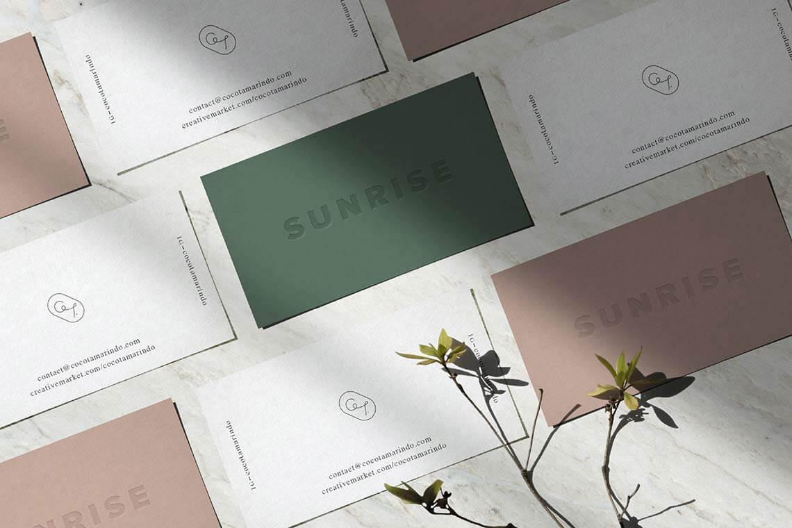 Sunrise Letterpress Mockup