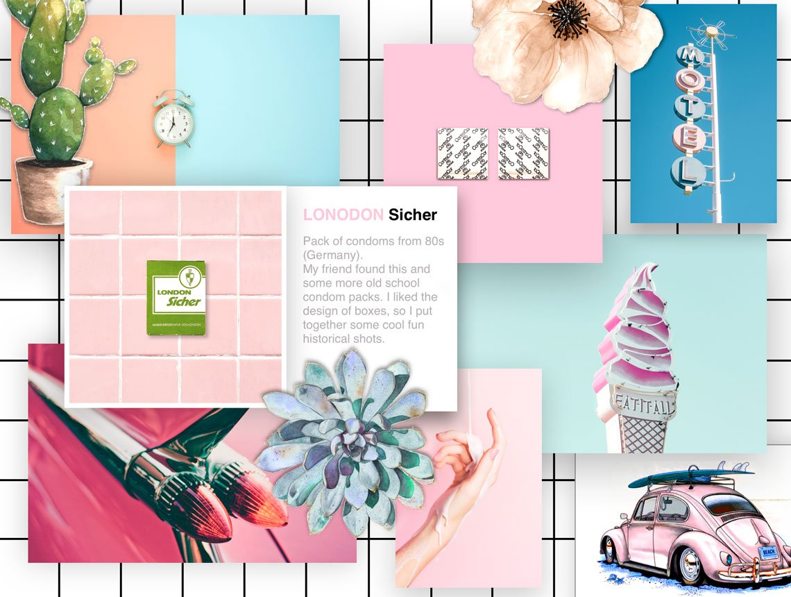 Mood Board for an interesting collection by Olga Kuri