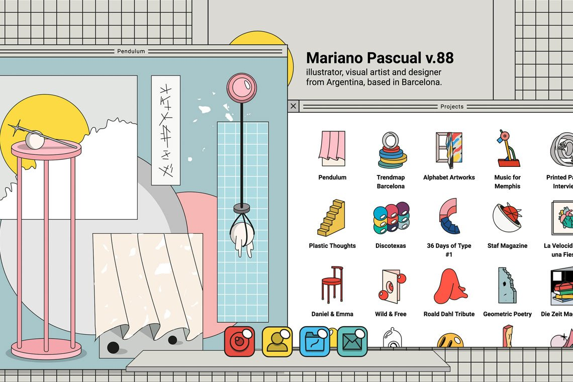 Mariano Pascual, an illustrator, visual artist and designer