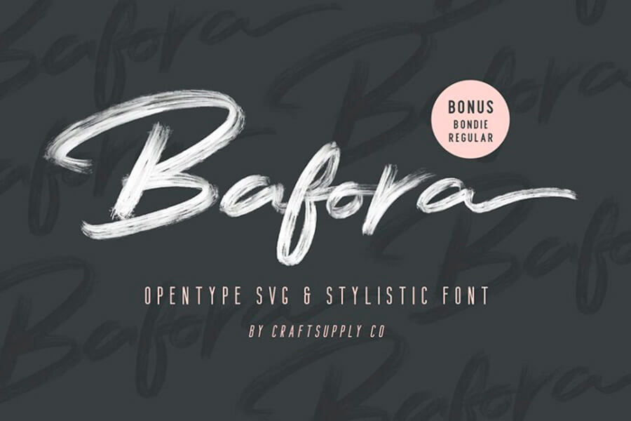 Bafora Brush SVG Font Demo