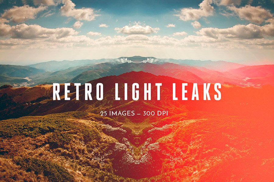 Retro Light Leaks Set