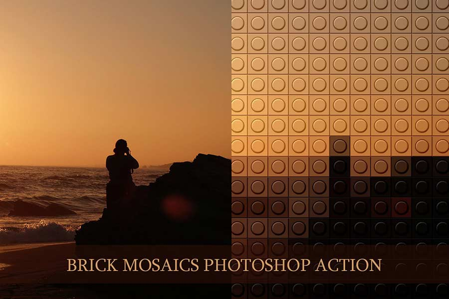 Brick Mosaics Photoshop Actions