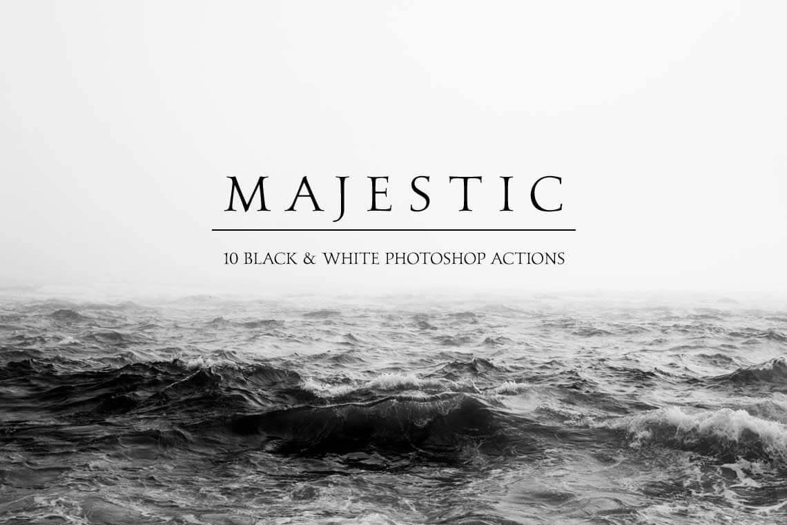 Majestic Black & White Photoshop Actions