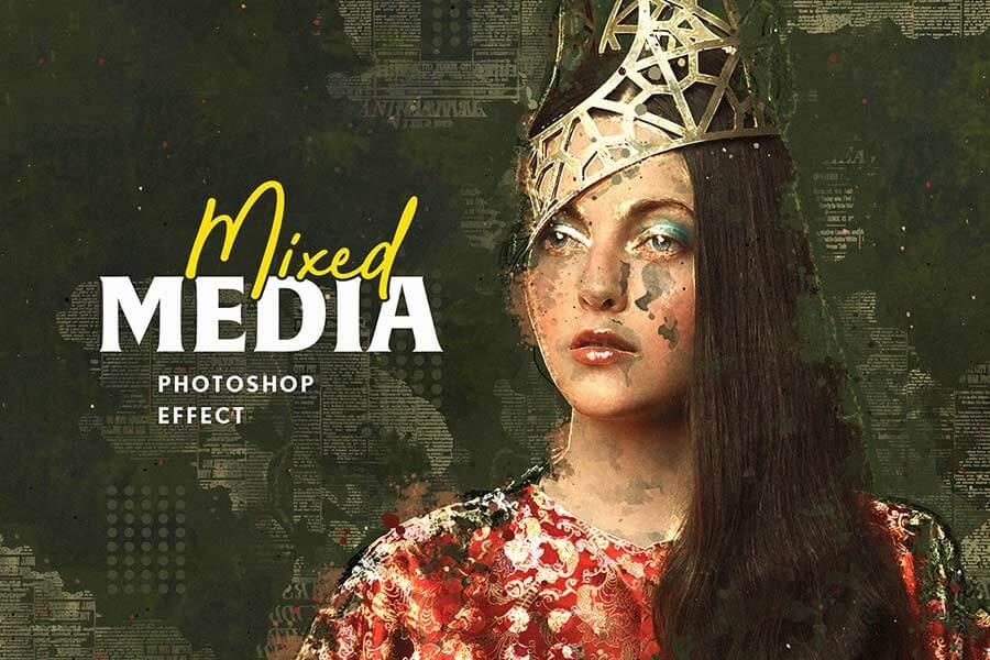 Mixed Media Photoshop Effect