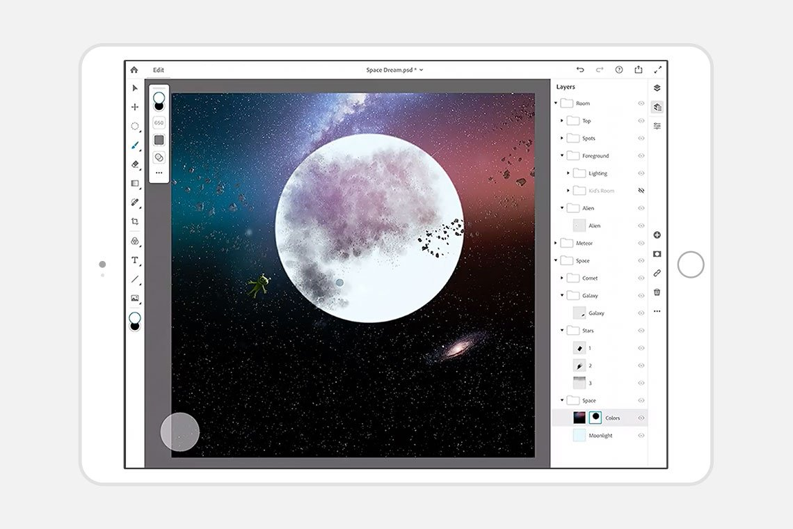 Photoshop for the iPad is almost here