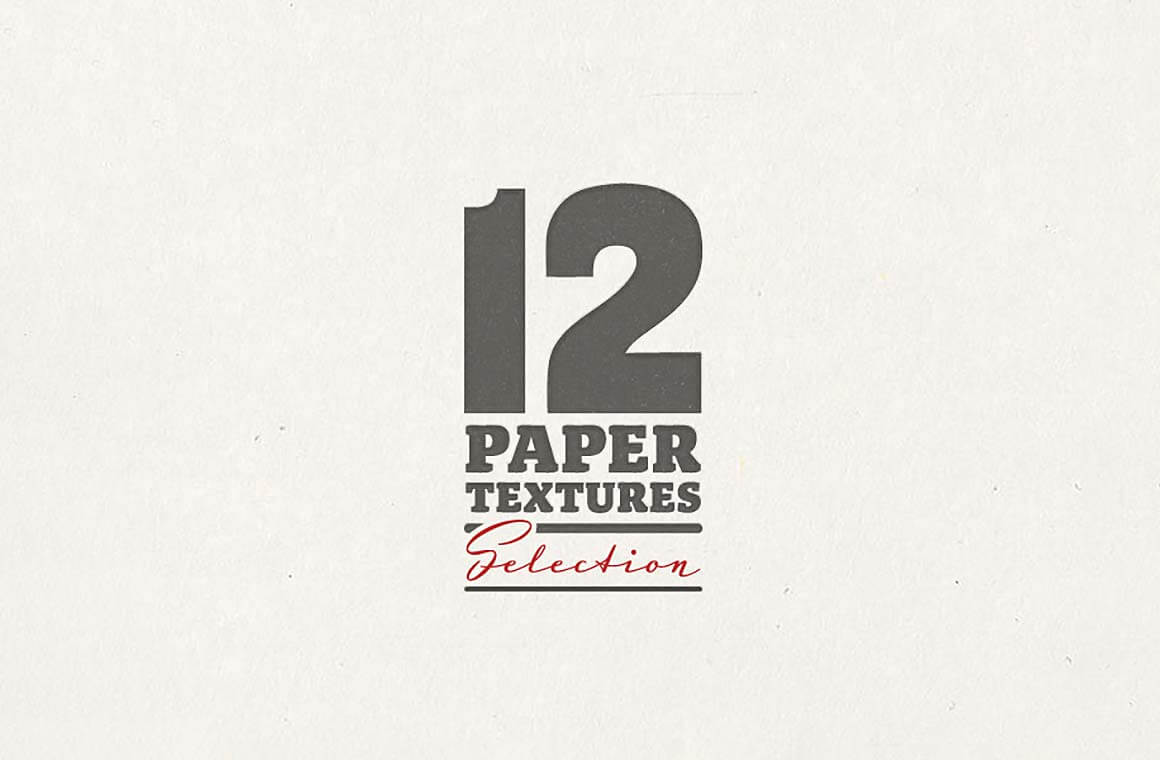 12 paper texture selection