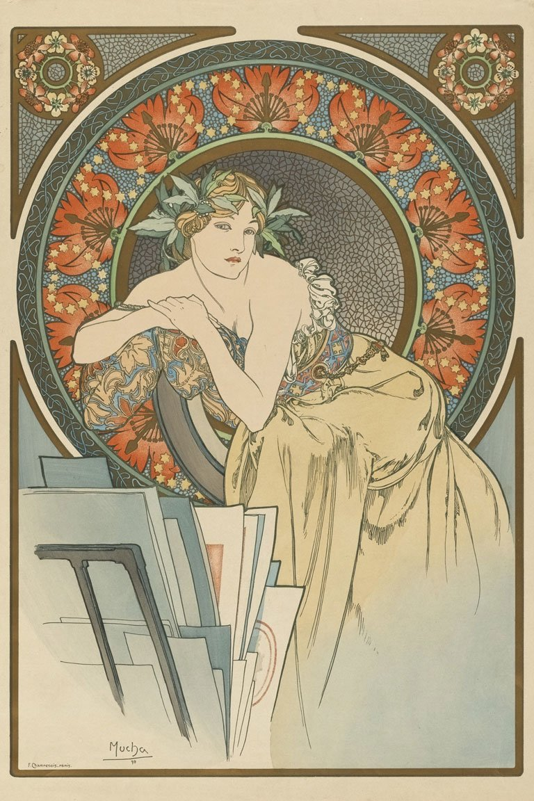 Alphonse Mucha. Exhibition Poster. 1898 (moma.org)