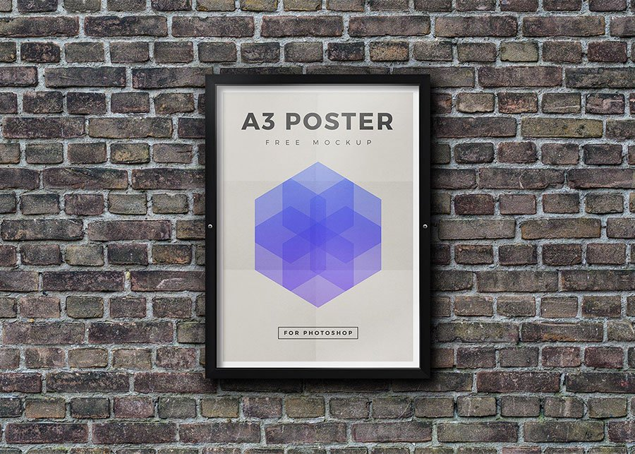 Outdoor Framed Poster Mockup