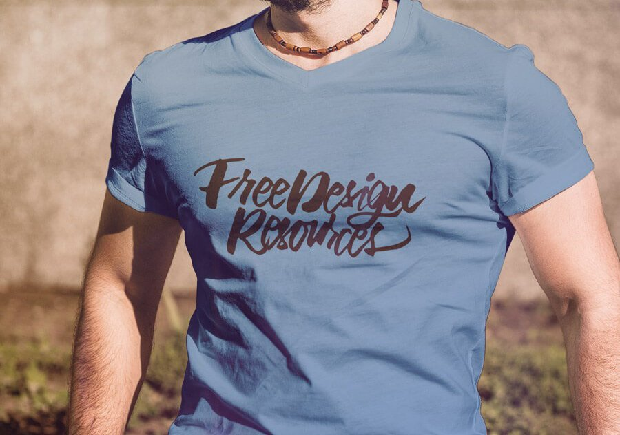 Free T-shirt Fashion Mockup