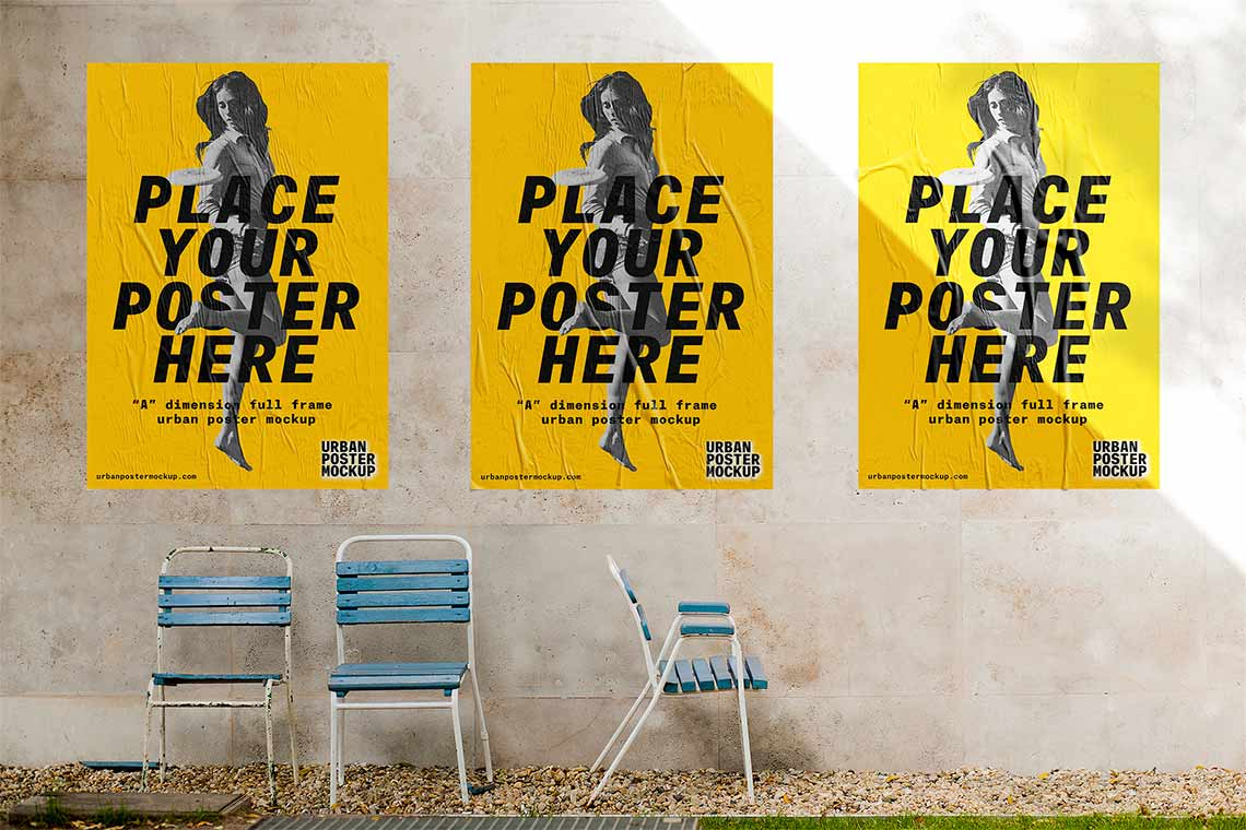 3 Urban Poster Mockup Templates