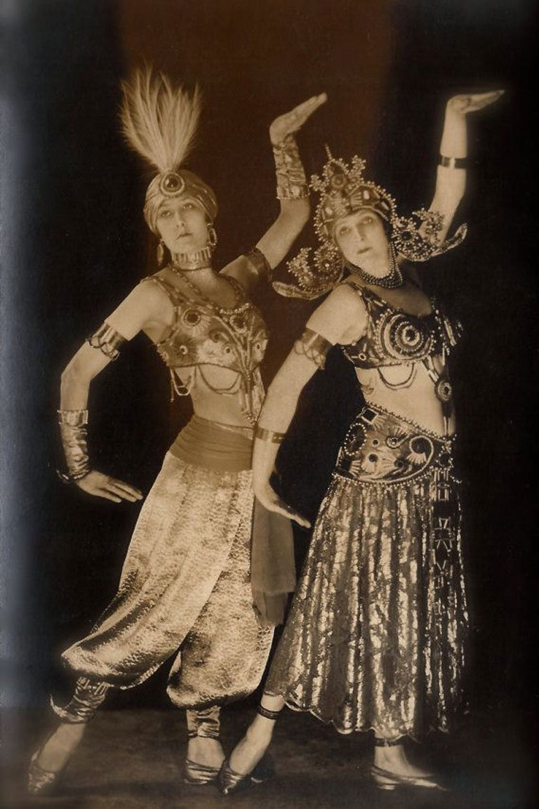 Ballet Russes dancers in Egyptian Revival Dress c.1925.