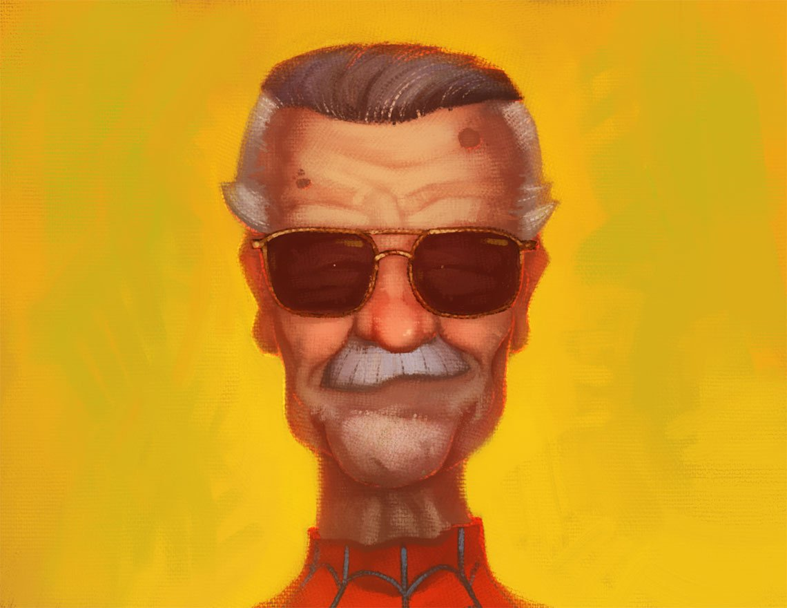 Stan Lee by Daniel Dufford via Dribbble
