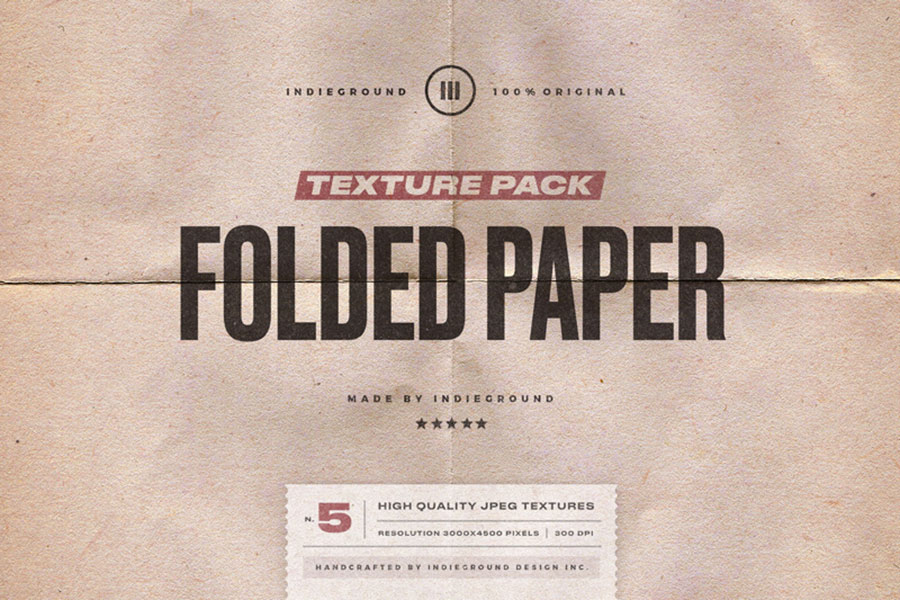 Free Folded Paper Texture Pack