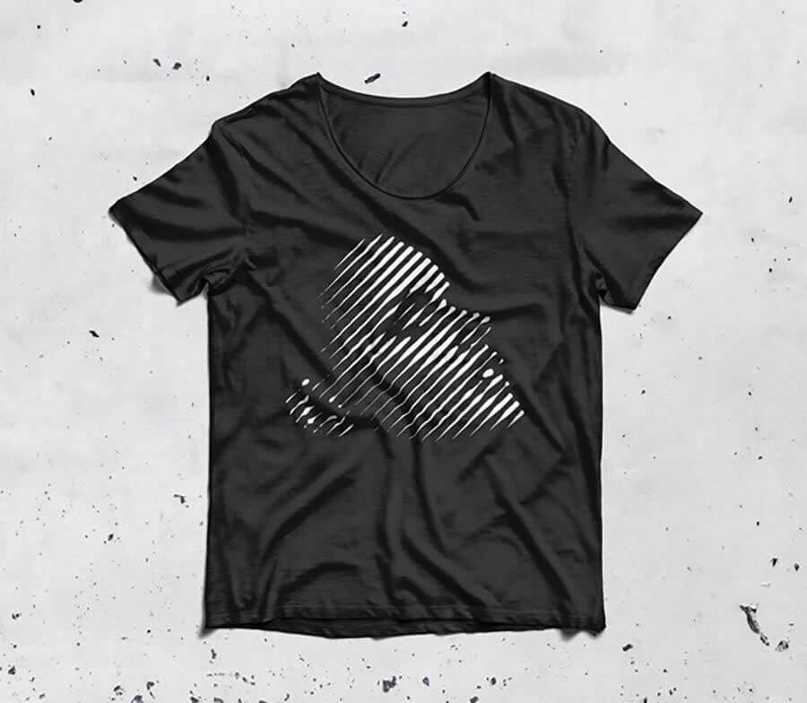 Black T-Shirt Clothing Mockup