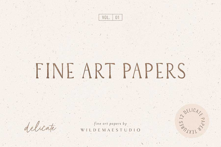 Fine Art Textured Paper Vol. I