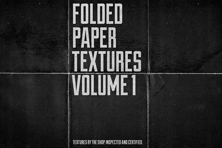 Folded Black Paper Texture Collection