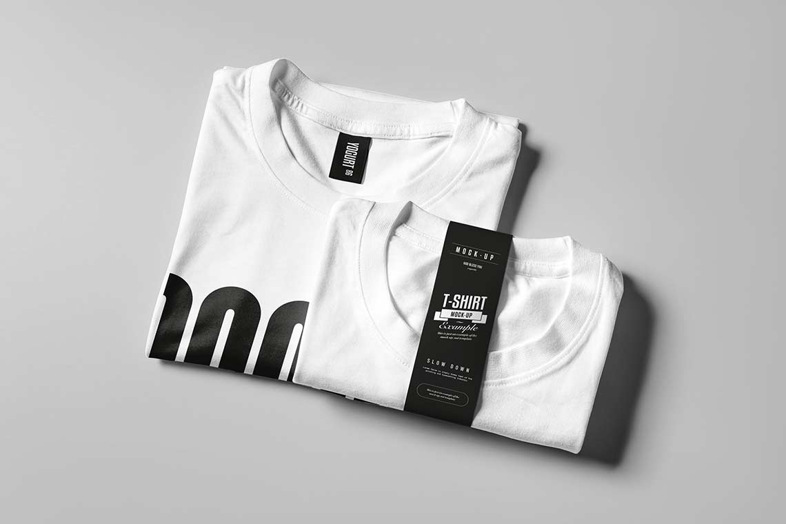 Folded T-Shirt Mockup Templates