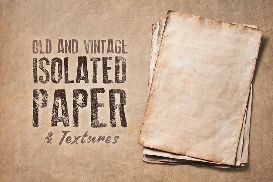 Isolated Old Paper and Textures