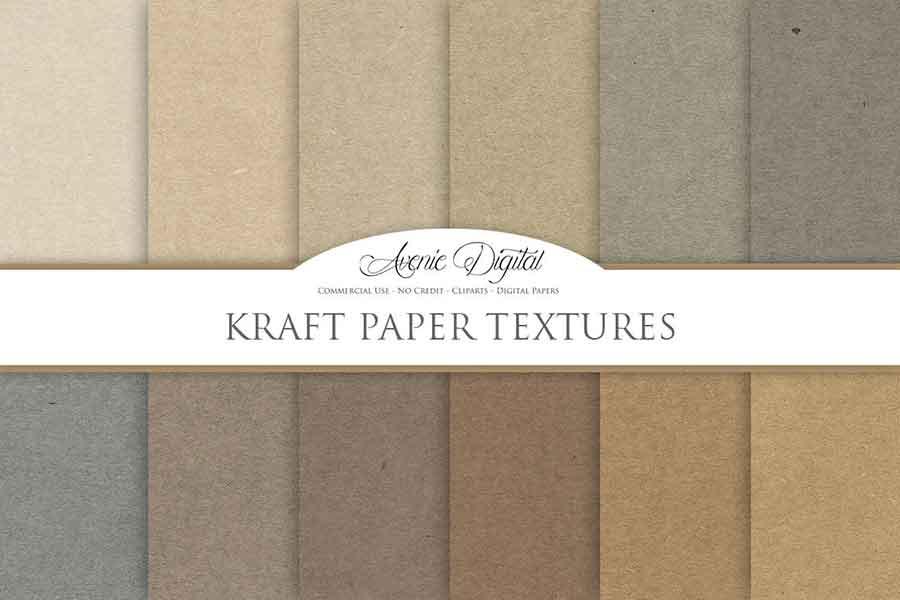 Kraft Paper Texture Backgrounds