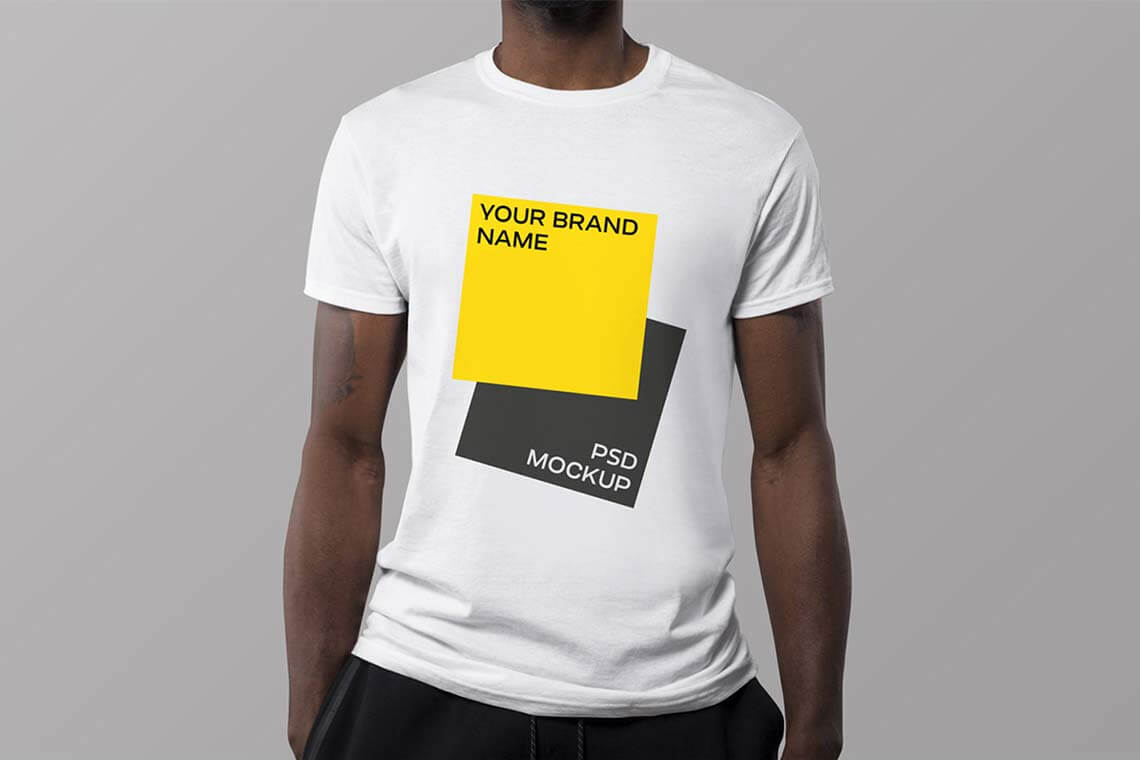 Man's Free T-shirt Mockup