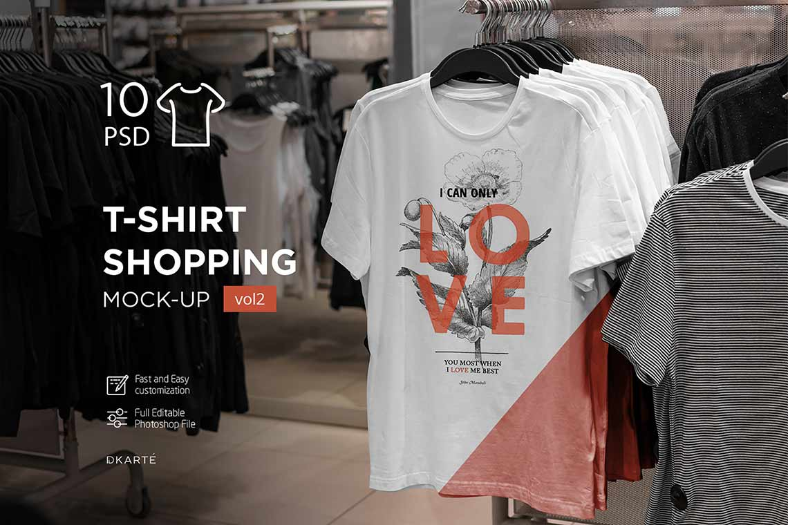 T-Shirt Shopping Mockup Set