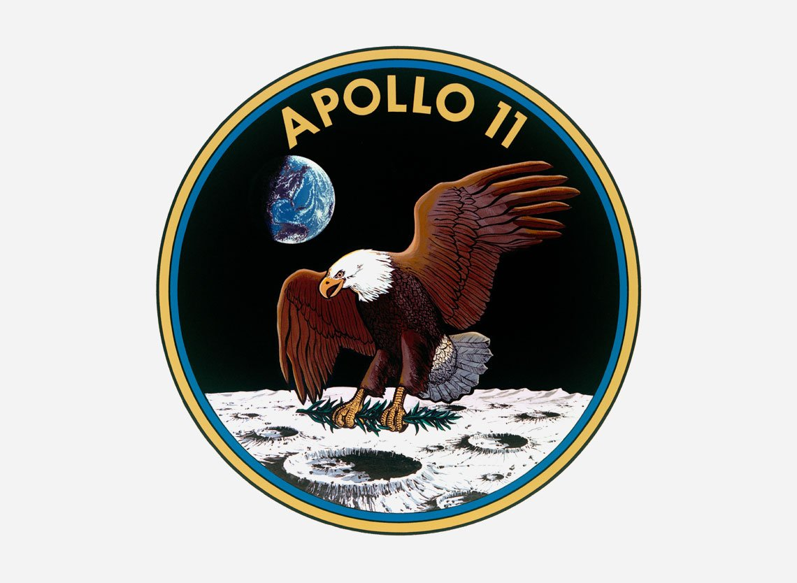 Apollo 11 mission patch via NASA