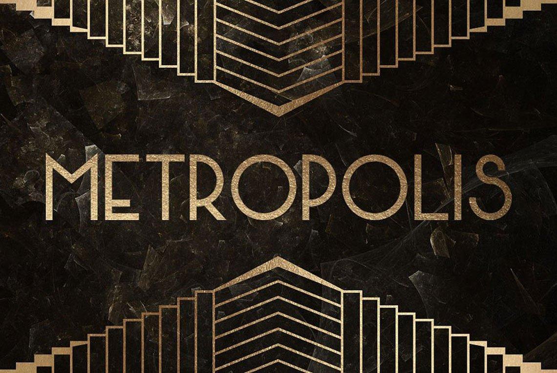 Metropolis Typeface by Mehmet Reha Tugcu