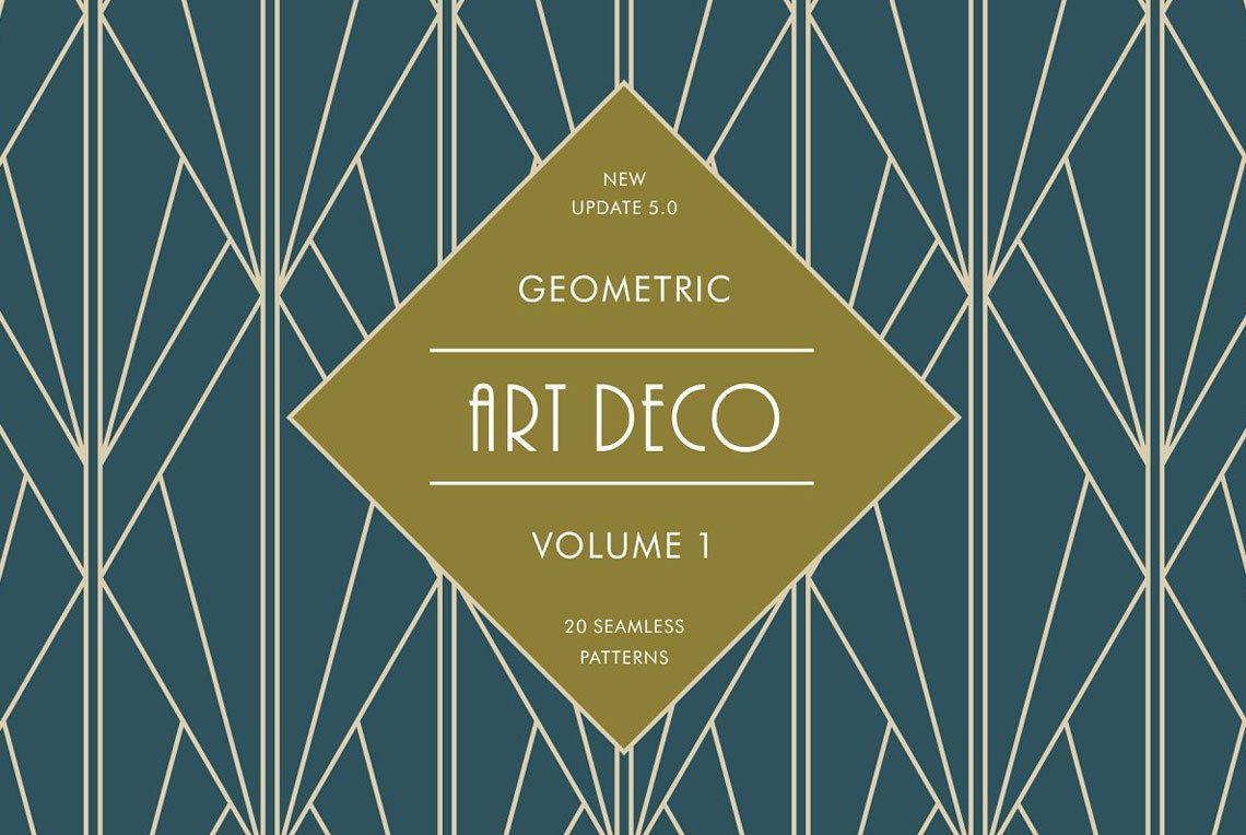 Geometric Art Deco Patterns by Catur Argi