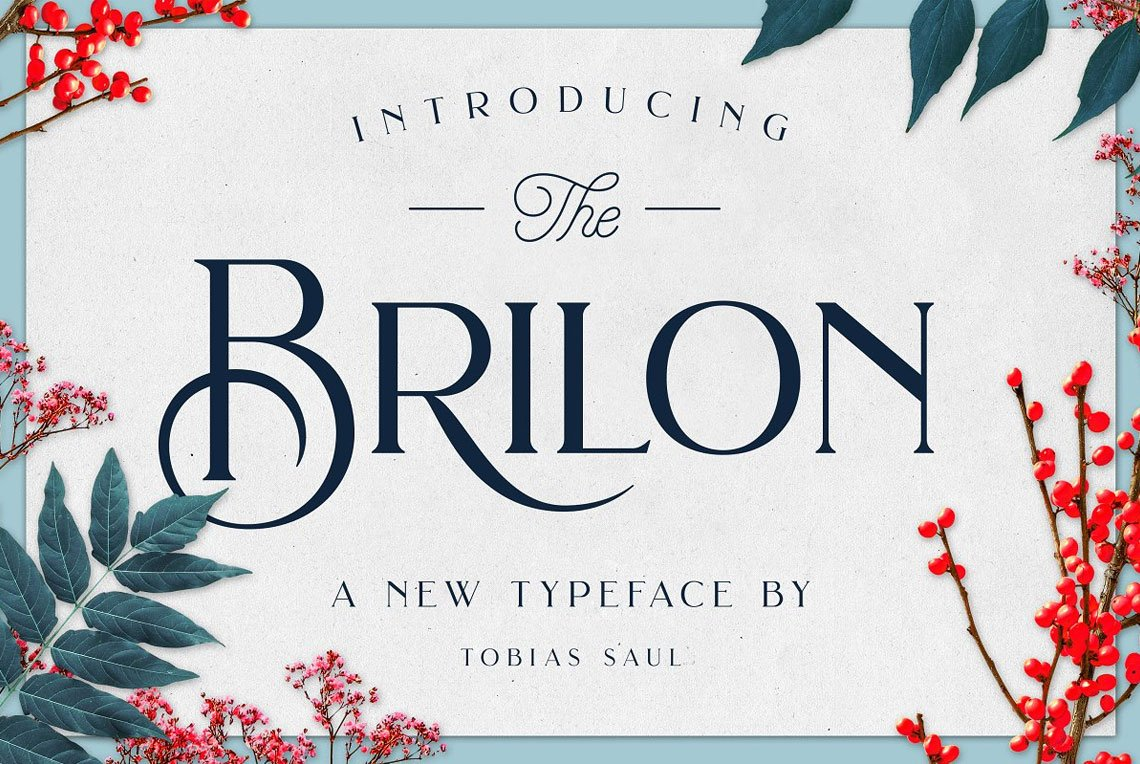 Brilon Font + Extras by Tobias Saul