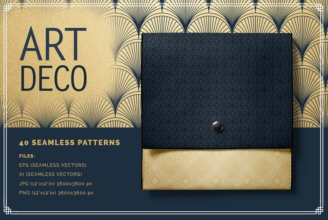 Art Deco Patterns by Youandigraphics